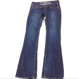 Express Jeans Dark Wash Stella Boot Cut Low Rise 0